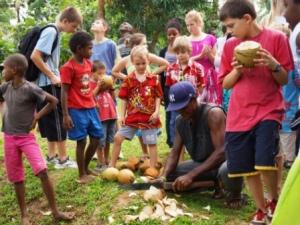 Fresh fresh fresh coconuts to drink and eat. Yummy!