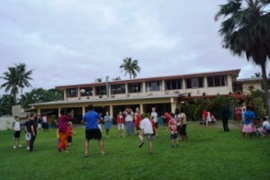 Fijian and NZ children playing together at the orphanage
