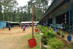 The village school in the remote valley